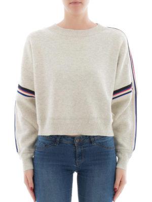 isabel marant etoile: crew necks online - Kao cropped oversized sweater