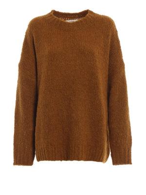 c69f9612274 Isabel Marant Etoile: maglia collo rotondo - Pull oversize Sayers ocra in  misto alpaca