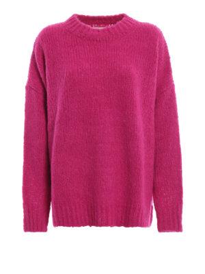 5cd36e2c772 Isabel Marant Etoile: maglia collo rotondo - Pull oversize Sayers fucsia in  misto alpaca
