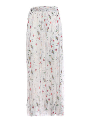 isabel marant etoile: Long skirts - Belina patterned silk wrap skirt