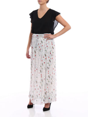 isabel marant etoile: Long skirts online - Belina patterned silk wrap skirt