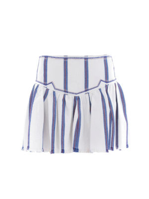 isabel marant etoile: mini skirts - Delia striped canvas mini skirt