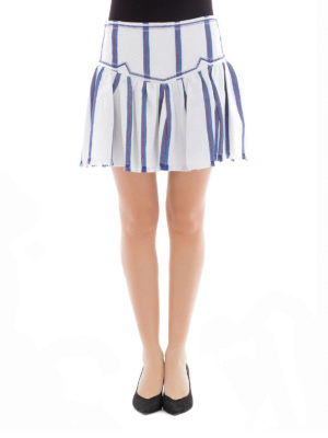 isabel marant etoile: mini skirts online - Delia striped canvas mini skirt