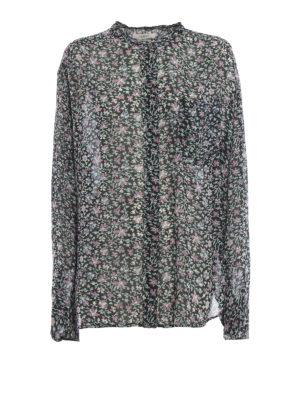 Isabel Marant Etoile: camicie - Camicia Jaws in georgette stampata