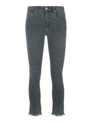 isabel marant etoile: skinny jeans - Skinny crop jeans