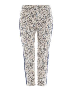 isabel marant etoile: straight leg jeans - Fliff printed jeans