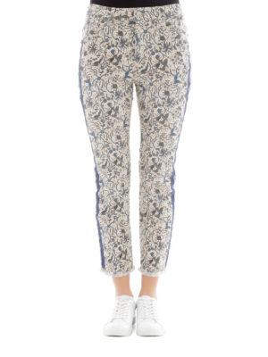 isabel marant etoile: straight leg jeans online - Fliff printed jeans
