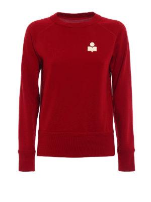 isabel marant etoile: Sweatshirts & Sweaters - Makati red sweatshirt