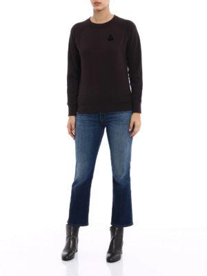 isabel marant etoile: Sweatshirts & Sweaters online - Makati faded black sweatshirt