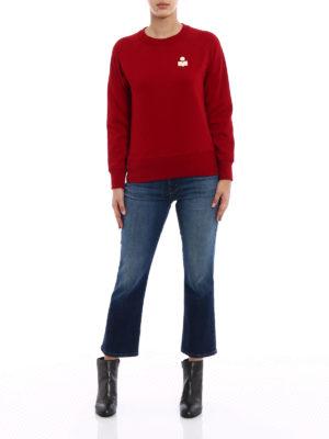isabel marant etoile: Sweatshirts & Sweaters online - Makati red sweatshirt