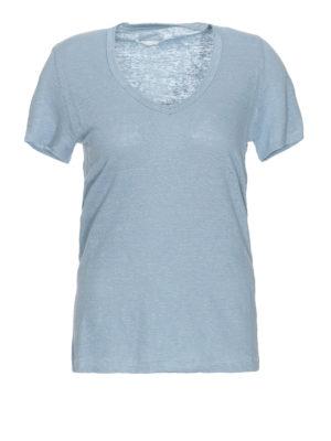 61c71fdc6ab Isabel Marant Etoile  t-shirt - T-shirt in cotone azzurro con ampio