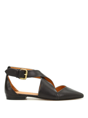 Isabel Marant: flat shoes - Lynela smooth leather flat shoes