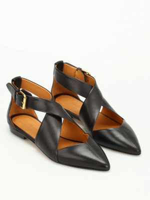 Isabel Marant: flat shoes online - Lynela smooth leather flat shoes