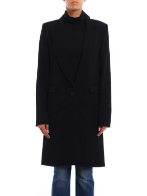 Isabel Marant: knee length coats online - Formal fitted wool coat