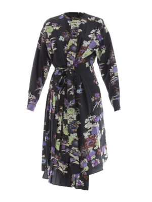 Isabel Marant: knee length dresses - Iam floral silk asymmetric dress