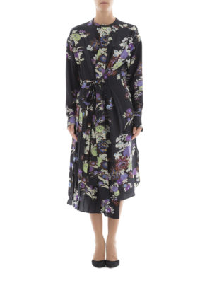 Isabel Marant: knee length dresses online - Iam floral silk asymmetric dress