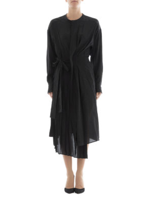 Isabel Marant: knee length dresses online - Silk crepe asymmetric dress