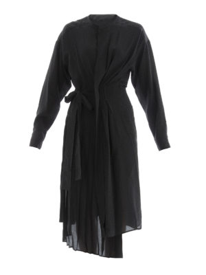 Isabel Marant: knee length dresses - Silk crepe asymmetric dress