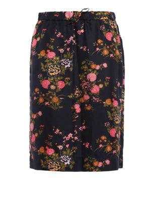 Isabel Marant: Knee length skirts & Midi - Olivia flower print silk skirt