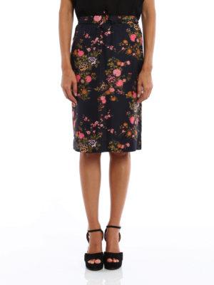 Isabel Marant: Knee length skirts & Midi online - Olivia flower print silk skirt