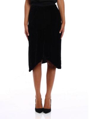 Isabel Marant: Knee length skirts & Midi online - Tursanne velvet asymmetric skirt