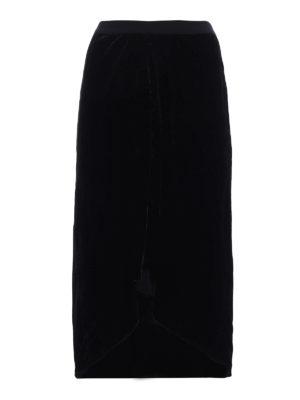 Isabel Marant: Knee length skirts & Midi - Tursanne velvet asymmetric skirt