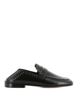 ISABEL MARANT: Mocassini e slippers - Mocassini Fezzy pelle con borchie