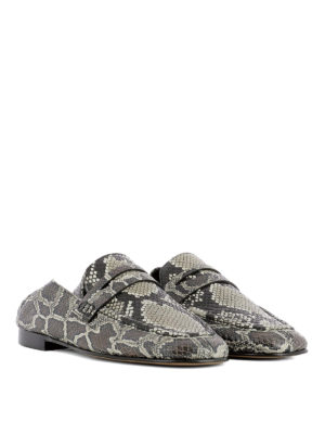 Isabel Marant: Loafers & Slippers online - Fezzy python print leather loafers