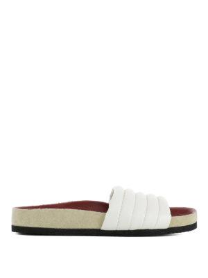 ISABEL MARANT: sandali - Ciabatte Hellea trapuntate bianche