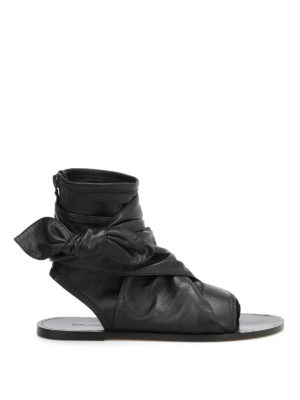 Isabel Marant: sandals - Mosley lamb leather thong sandals