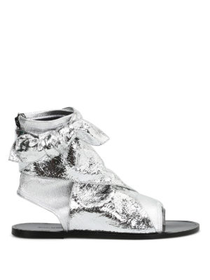 Isabel Marant: sandals - Mosley metallic lambskin sandals