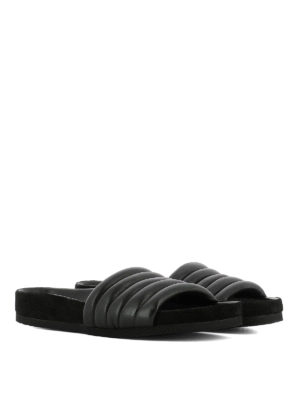 Isabel Marant: sandals online - Hellea quilted leather slippers