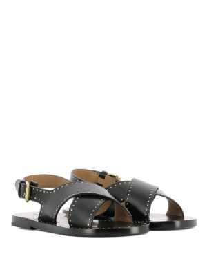 Isabel Marant: sandals online - Jane leather criss cross sandals