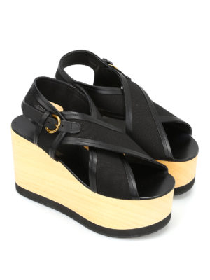 Isabel Marant: sandals online - Zlova crisscross wedge sandals