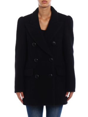 Isabel Marant: short coats online - Lea wool double-breasted coat