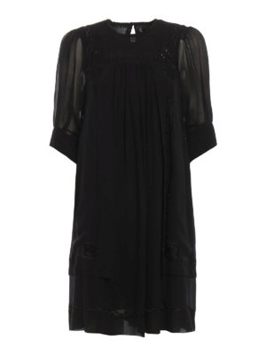Isabel Marant: short dresses - Mabel silk crepe dress