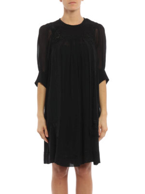 Isabel Marant: short dresses online - Mabel silk crepe dress