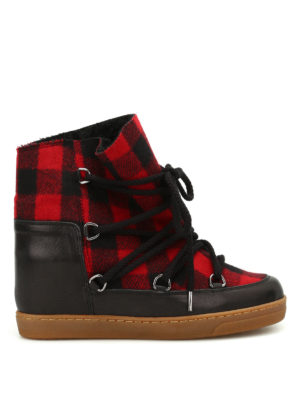 Isabel Marant: snow boots - Nowles tartan flannel boots