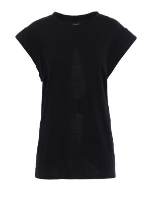 Isabel Marant: t-shirts - Lowell back cut out detail T-shirt