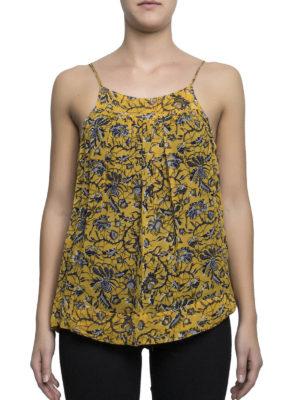 Isabel Marant: Tops & Tank tops online - Bronson batik print silk top