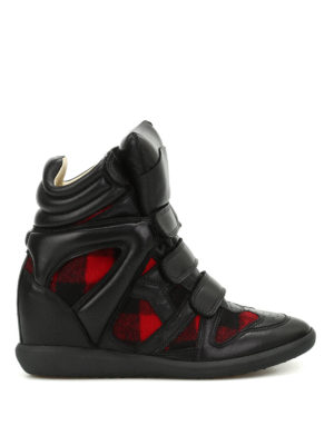 Isabel Marant: trainers - Bekett flannel high top sneakers