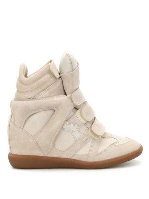 Isabel Marant: trainers - Bekett suede high top sneakers