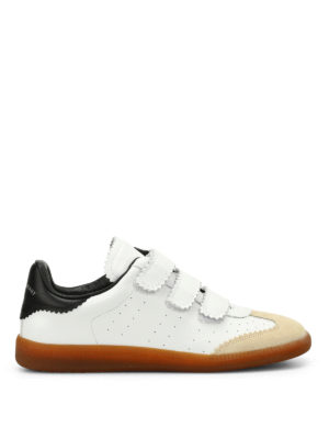 Isabel Marant: trainers - Beth leather and suede sneakers