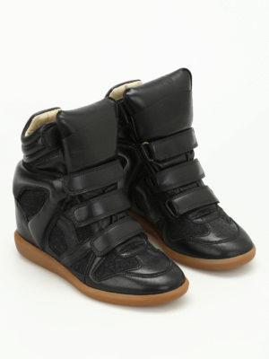 Isabel Marant: trainers online - Bekett flannel high top sneakers