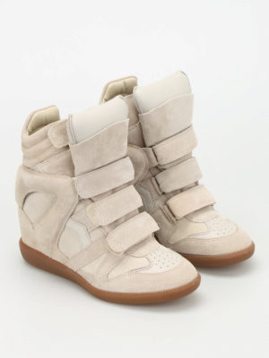 Isabel Marant: trainers online - Bekett suede high top sneakers