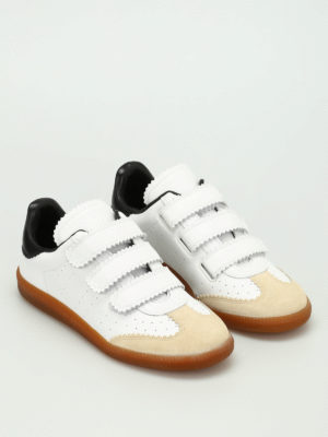 Isabel Marant: trainers online - Beth leather and suede sneakers