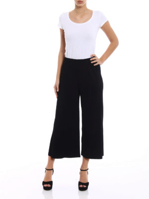 Issey Miyake Cauliflower: casual trousers online - Pleated techno jersey culottes