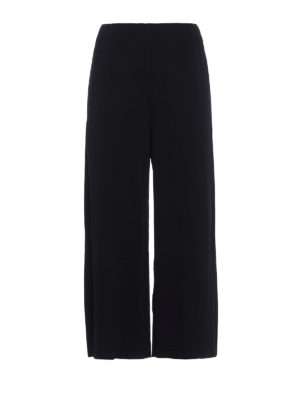 Issey Miyake Cauliflower: casual trousers - Pleated techno jersey culottes