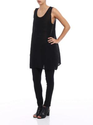 Issey Miyake Cauliflower: short dresses online - See-through black crepe dress