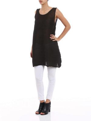 Issey Miyake Cauliflower: short dresses online - See-through crepe A-line dress